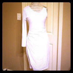 Venus Grecian one arm white cocktail dress